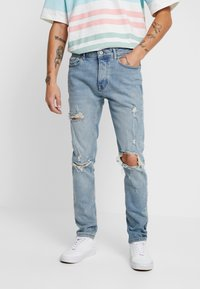 Topman - BLOWOUT - Jeans Skinny Fit - blue - 0
