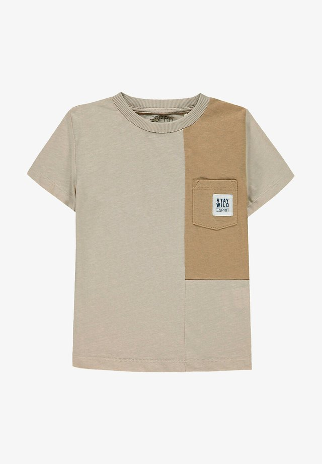 Print T-shirt - silver