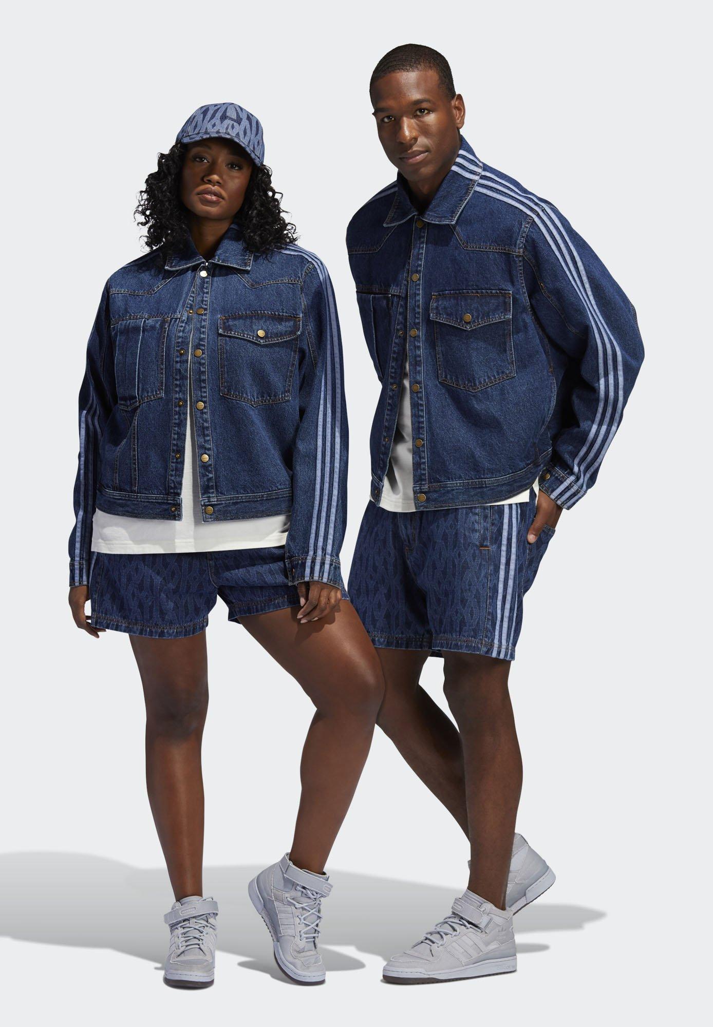 Uomo IVY PARK MONOGRAM DENIM - Shorts di jeans