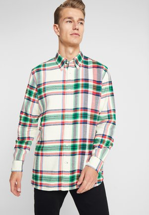 RELAXED BLOWN UP CHECK - Shirt - beige