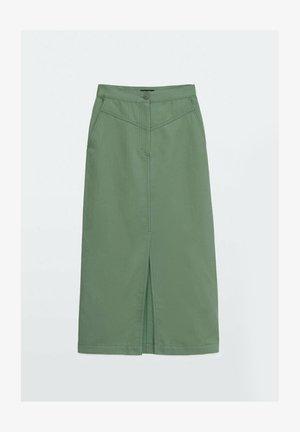 Denim skirt - green