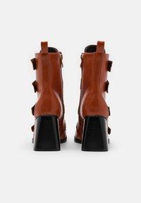 RAID - AILEEN - Kotníková obuv na vysokém podpatku - cognac - 3