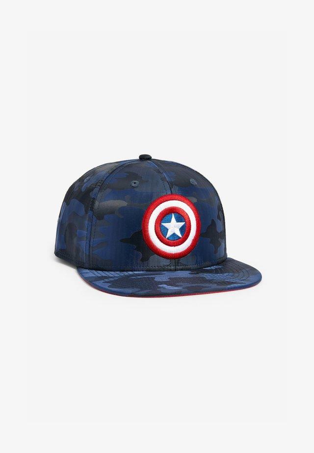 CAPTAIN AMERICA CAMO CAP - Cappellino - dark blue