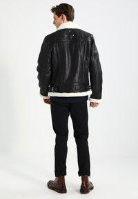 Be Edgy - BEANDREW - Leather jacket - black/white - 2