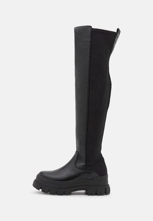 VEGAN ASPHA OVER - Platform boots - black