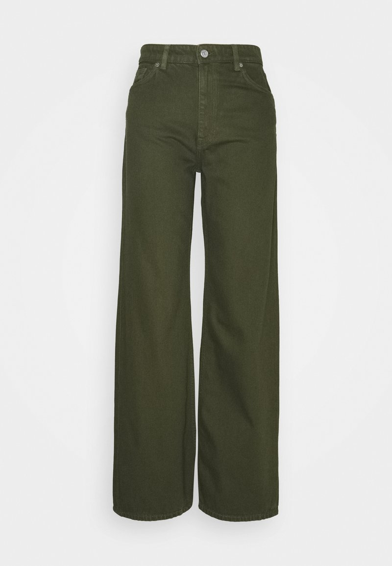 Monki - YOKO  - Jeans relaxed fit - green dark