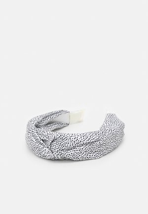 CHECK KNOT HEADBAND - Hair styling accessory - black/white