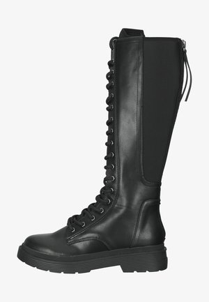 Lace-up boots - black rolo