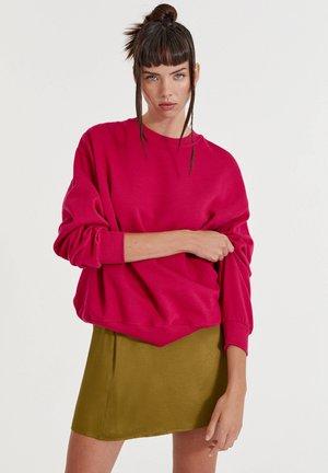 Sweatshirt - mottled pink