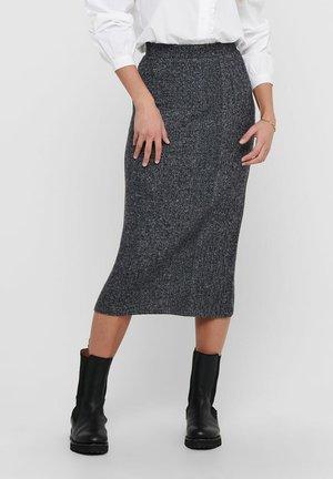 ROCK LANGER - Pencil skirt - dark grey melange