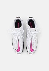 Nike Performance - PHANTOM GT ACADEMY DF SGPRO AC - Screw-in stud football boots - white/pink blast/black - 3
