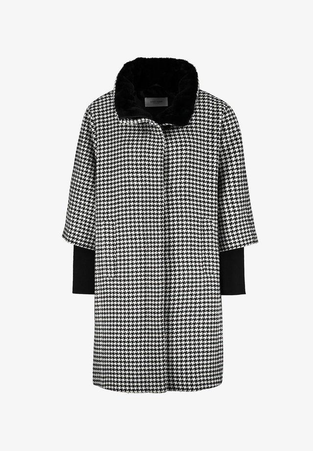 Classic coat - schwarz karo