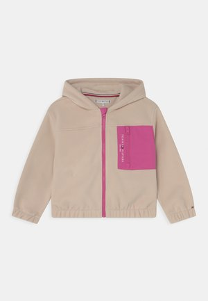 SOFT COLOURBLOCK ZIP HOODIE - Giacca in pile - smooth stone