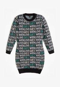 Guess - JACQUARD ALLOVER-LOGO - Jumper dress - mehrfarbig schwarz - 0