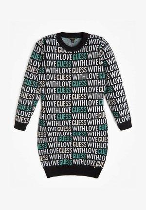JACQUARD ALLOVER-LOGO - Jumper dress - mehrfarbig schwarz