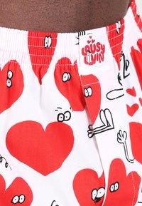 Lousy Livin Underwear - VALENTINES - Trenýrky - white - 3