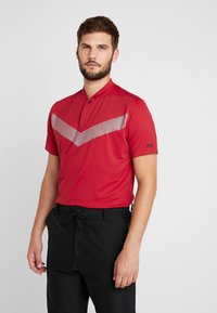 Nike Golf - TIGER WOODS DRY VAPOR REFLECT POLO - T-shirt med print - gym red/black - 0
