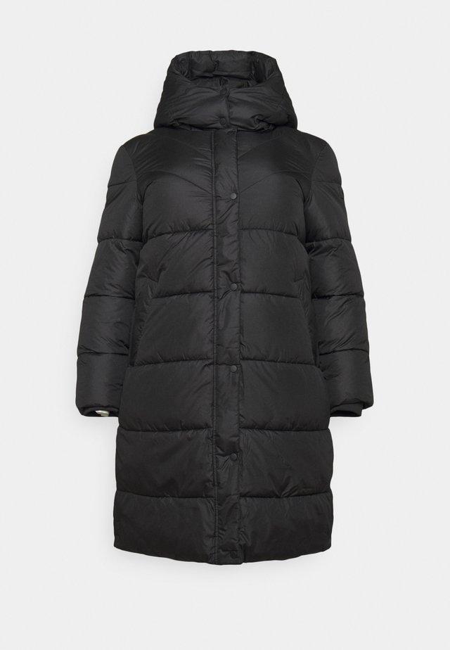 LONG JACKET - Winter coat - deep black