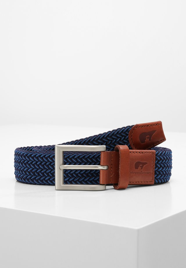 Braided belt - blue