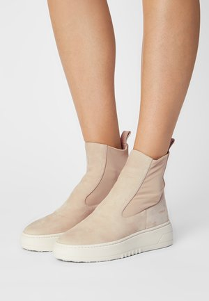 CPH113  - Platform ankle boots - stone