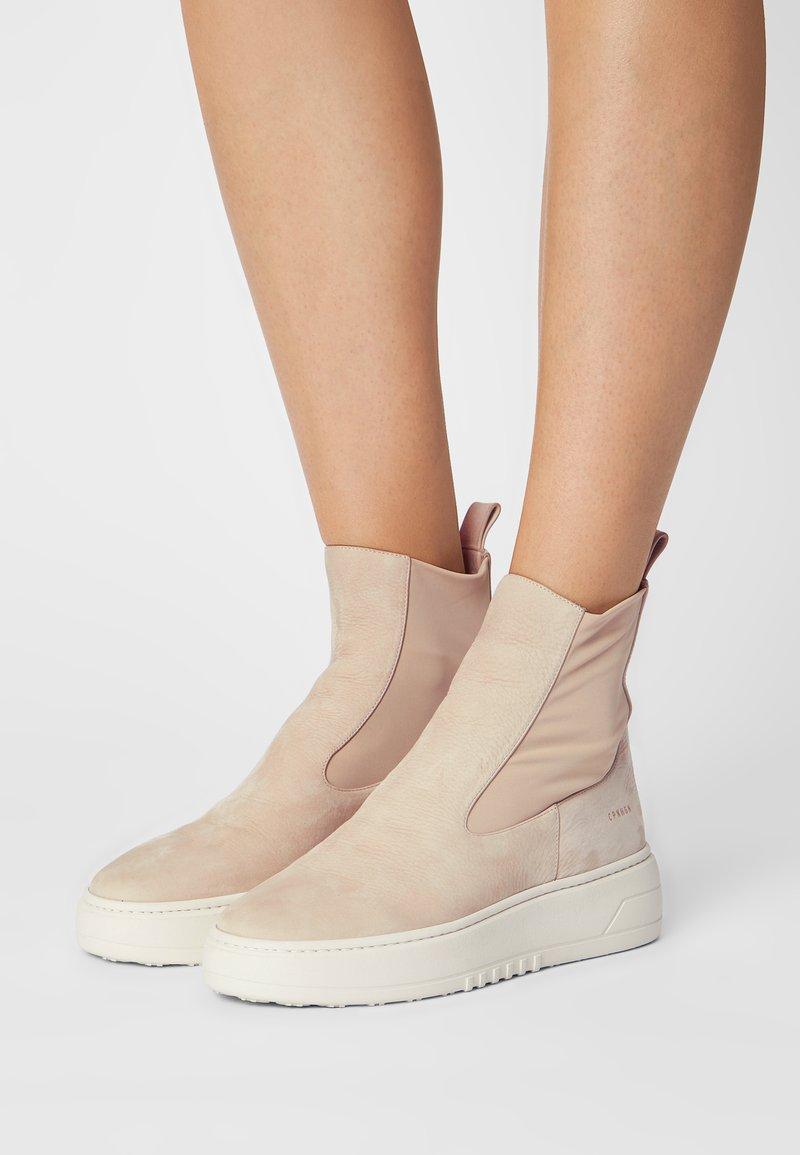 Copenhagen - CPH113  - Platform ankle boots - stone