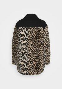 maje - BAMION - Denim jacket - noir/camel - 1