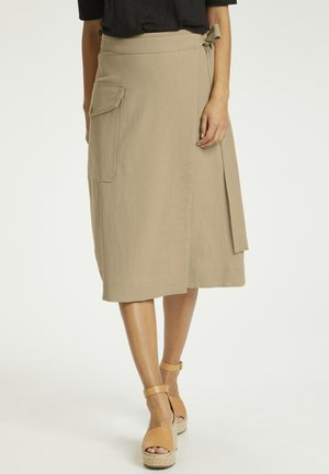 Wrap skirt - beige