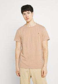 Replay - CREW TEE 3 PACK - Basic T-shirt - black/ white/hazelnut - 3
