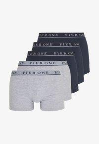Pier One - 5 PACK - Panties - dark blue/mottled grey - 3