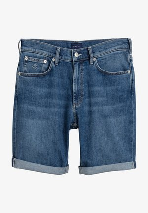 Shorts vaqueros - semi light blue worn in