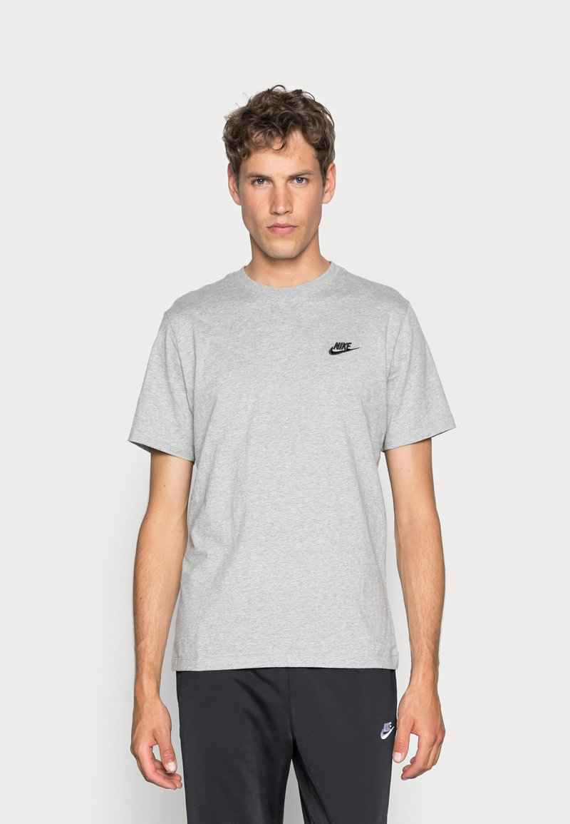 Nike Sportswear - CLUB TEE - T-shirt basique - dark grey heather/black