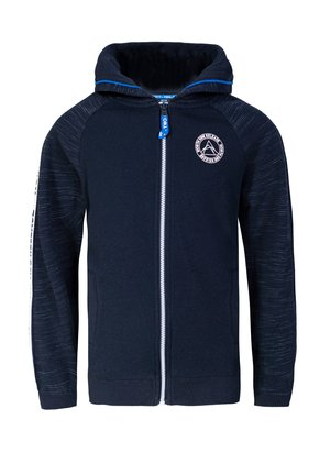 JONGENS MET CAPUCHON EN TAPEDETAIL - Zip-up hoodie - dark blue