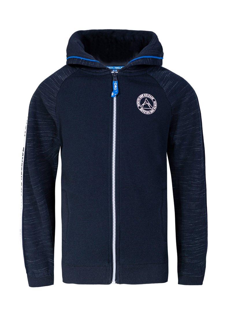 WE Fashion - JONGENS MET CAPUCHON EN TAPEDETAIL - Zip-up hoodie - dark blue
