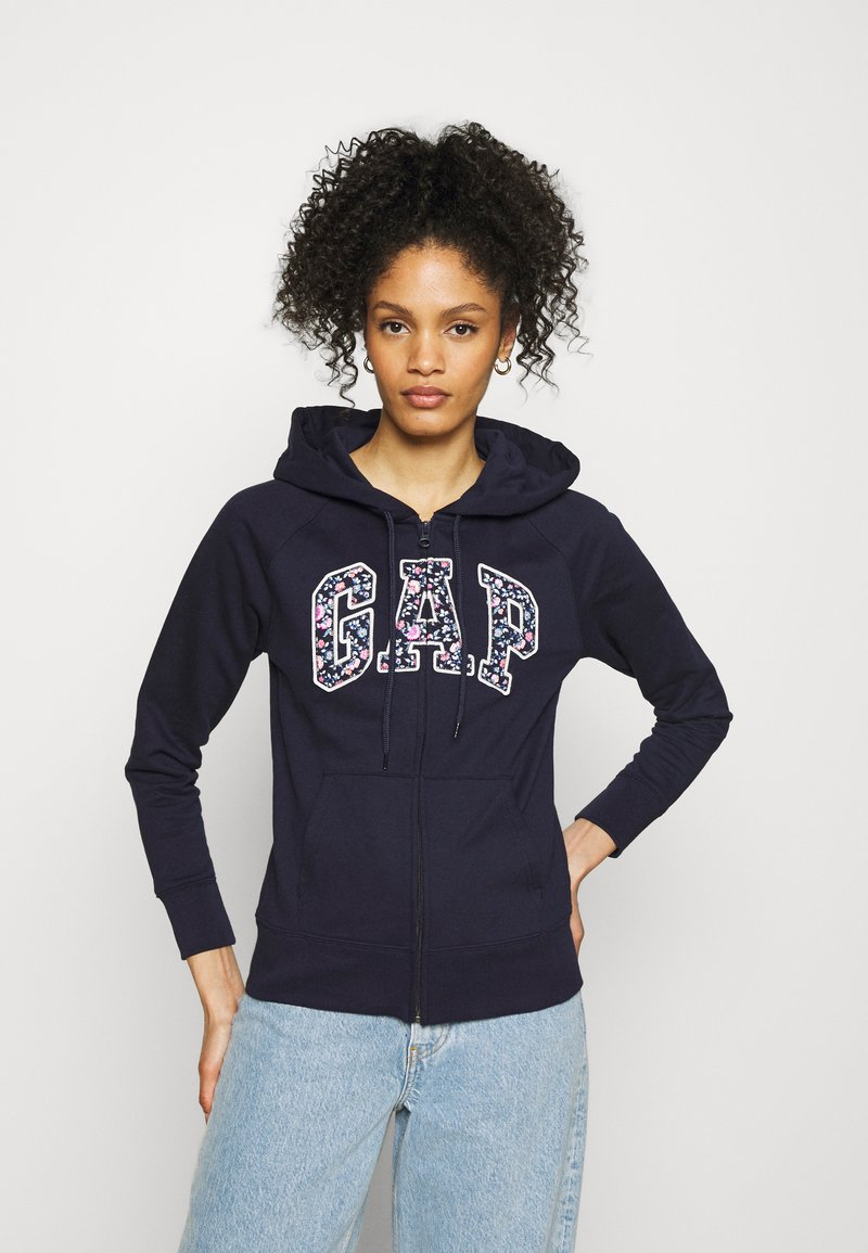 GAP - NOVELTY - Zip-up hoodie - navy uniform