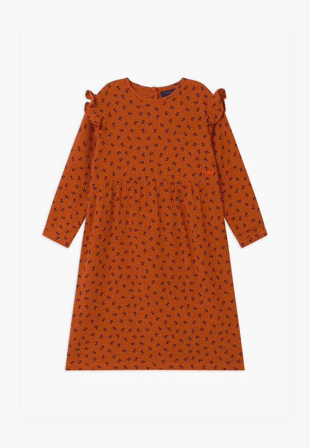 TINY FLOWERS - Blousejurk - sienna/navy