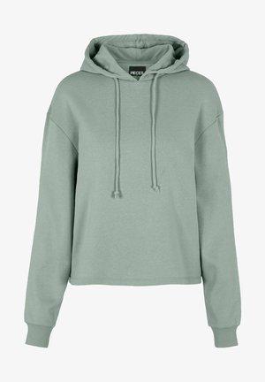 Hoodie - aqua gray