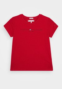 Tommy Hilfiger - ESSENTIAL TEE  - T-shirt con stampa - red - 0
