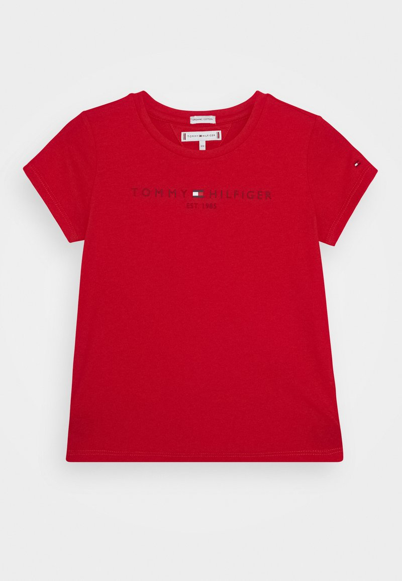 Tommy Hilfiger - ESSENTIAL TEE  - T-shirt con stampa - red