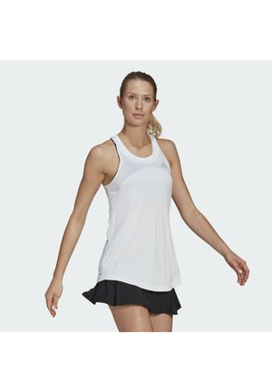 CLUB TANK - Sports shirt - white/grey