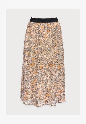 OLETA - Áčková sukně - tan combi
