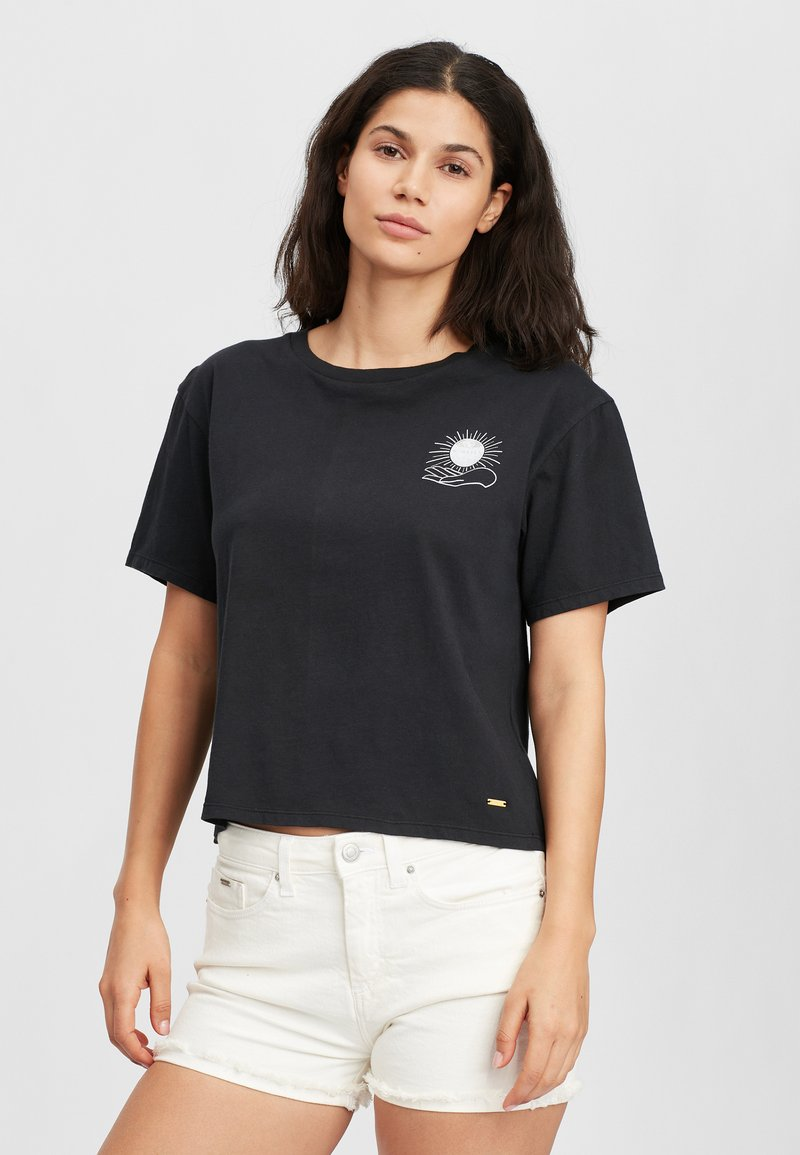 O'Neill - GRAPHIC - Print T-shirt - black out
