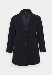 Dorothy Perkins Curve - MINIMAL SHAWL COLLARCROMBIE COAT - Short coat - navy - 4