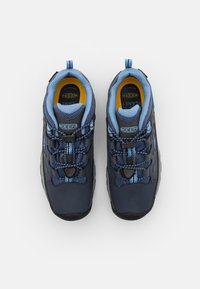 Keen - TARGHEE LOW WP UNISEX - Hiking shoes - blue nights/della blue - 3