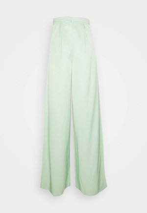 HOSS X NA-KD WIDE LEG PANTS - Trousers - pastel green