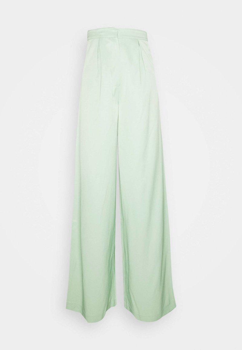 NA-KD - HOSS X NA-KD WIDE LEG PANTS - Pantalon classique - pastel green