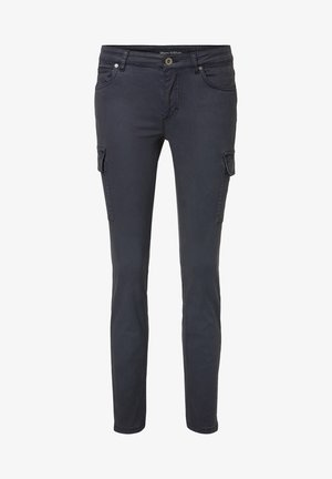 POCKET CARGO STYLE MID WAIST SLIM LEG - Cargo trousers - blue