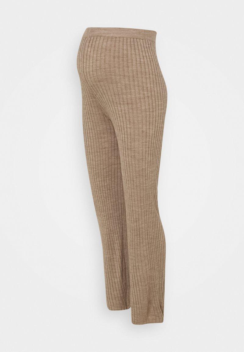 MAMALICIOUS - MLTOWN PANTS - Leggings - Trousers - beige
