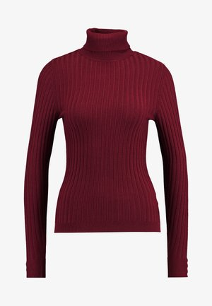 ROLL - Strickpullover - dark burgundy