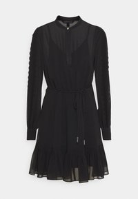 JULIETTE TRIM DETAIL DRESS - Day dress - black