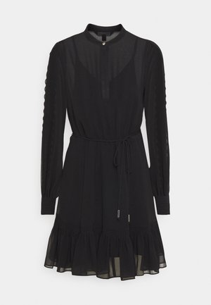 JULIETTE TRIM DETAIL DRESS - Sukienka koktajlowa - black